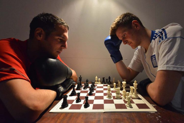 Chessboxing.