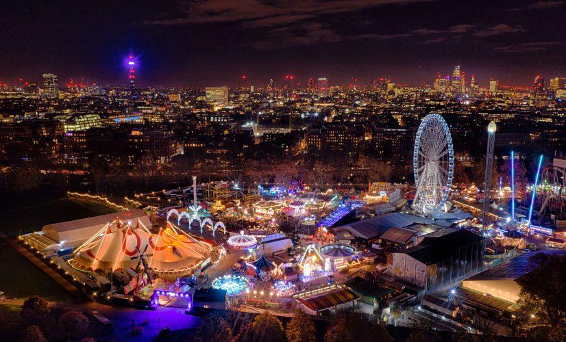 Winter Wonderland in London's Hyde Park By Drone