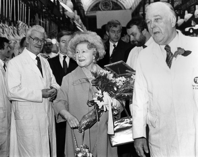 Queen Mother Visits Smithfield Meat Market 8601