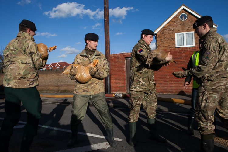 Royal Army helps in Staines