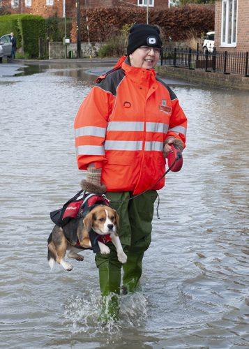 Yalding Christmas flooding in Kent 2019.