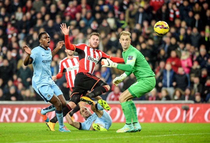 Sunderland's Connor Whickham shock Manchester City with an early goal before conceding 4 others. 03/12/14 - Sunderland (1) - Man City (4)