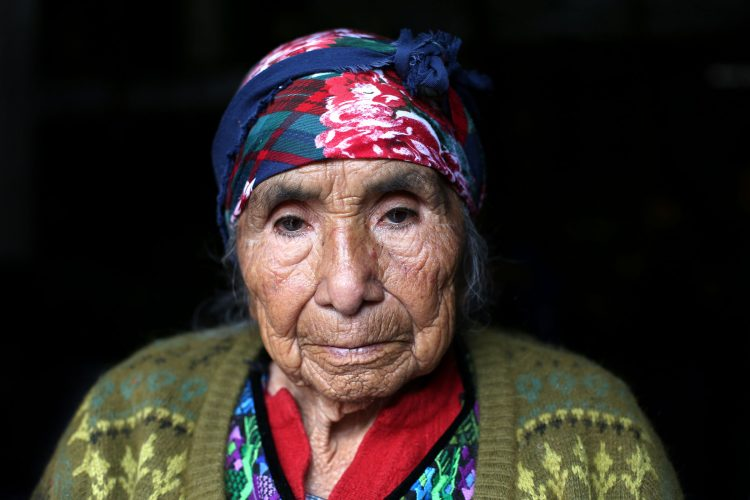 A 95 year old grandmother from Chichicastenango, Guatemala
