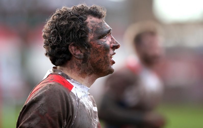 A muddy day for the rugby match between West Hartlepool and Northern in the North One East League.