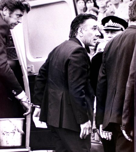 Reggie Kray let out for his Mums funeral 1982, first thing he said as he got out the Van was F**k off !