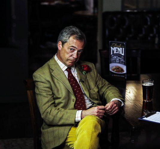 Nigel Farage in Yarm, Cleveland.