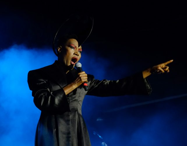 Grace Jones performs at OnBlackheath festival