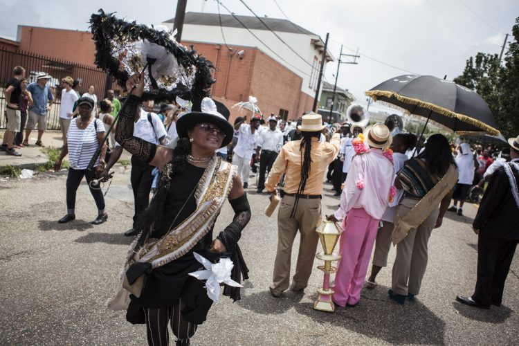 The funeral of 'Uncle' Lionel Batiste, New Orleans.