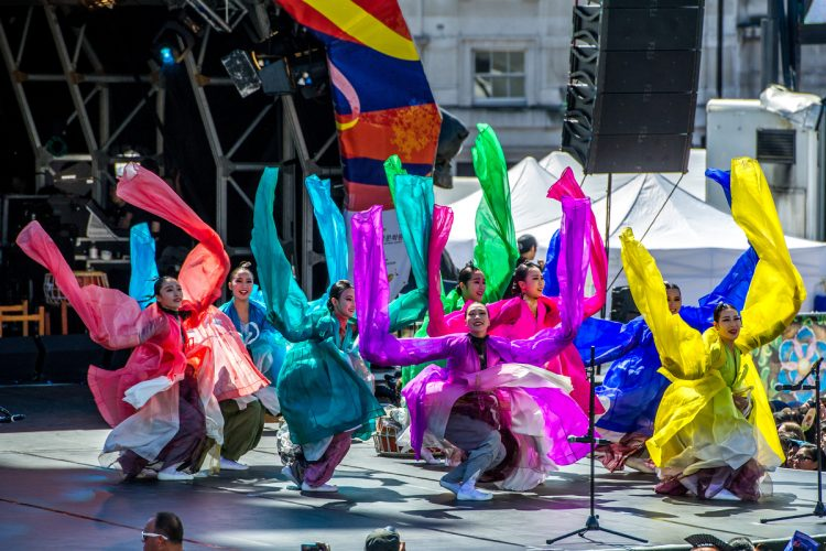 The London Korean Festival 2015 in Trafalgar Square. 09 August, 2015