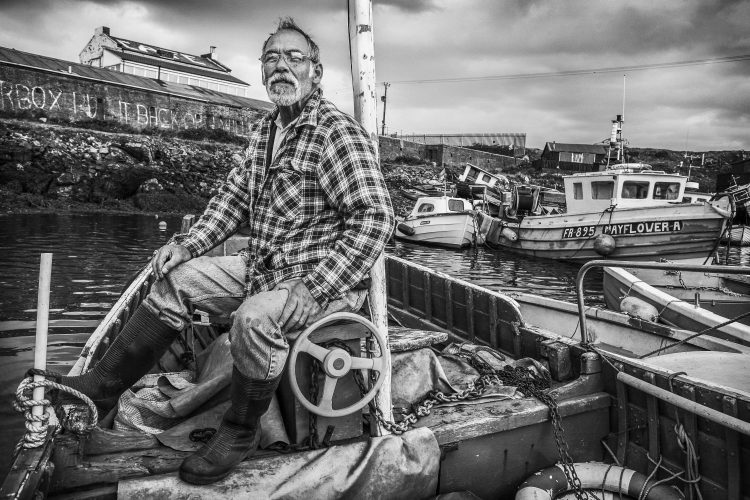 Lobster fisherman, South Gare, Redcar.