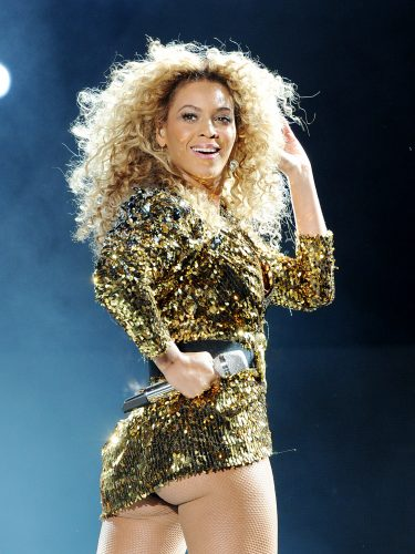 Beyonce headlines the Pyramid Stage during the 2011 Glastonbury Music Festival, Somerset