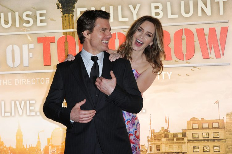 Tom Cruise and Emily Blunt during the premiere of 'Edge of Tomorrow' May 2014