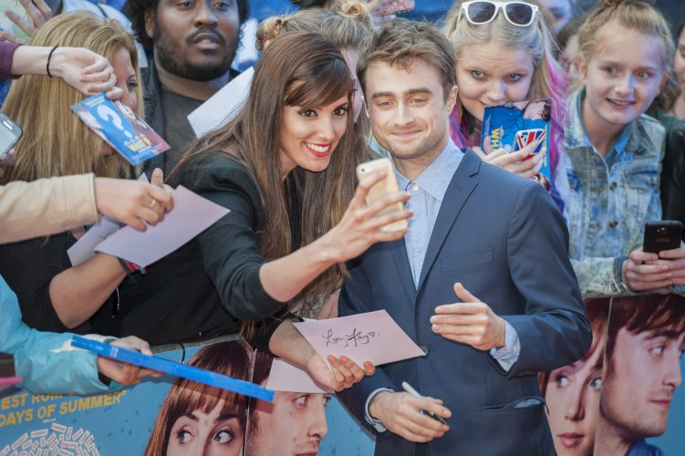 "Daniel Radcliffe arrives at the UK premiere of his latest movie ""What If"" at the OdeonWest End, Leicester Square, London."