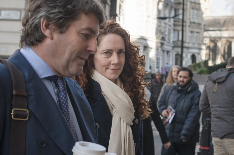 The Old Bailey, London, UK. 4th March 2014. Charlie and Rebekah Brooks arrive at the Old Bailey to attend the phone hacking trial.