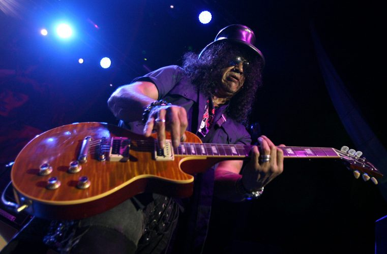 Former Guns 'n' Roses lead guitarist Slash performs in Newcastle.