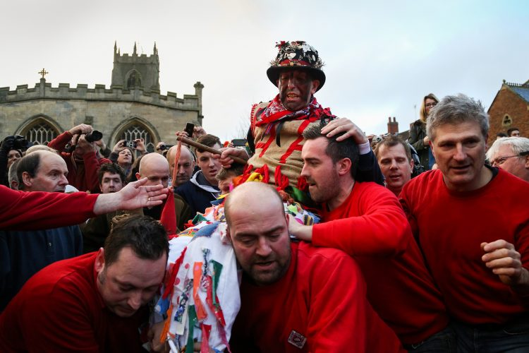 The annual Haxey Hood takes place in North Lincolnshire, UK.