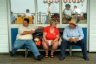 Holidaymakers on the Grand Pier in Weston-Super-Mare.