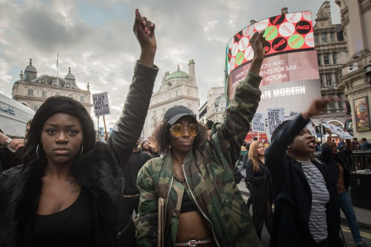 Black Lives Matter Protesters March in London 12th July 2016