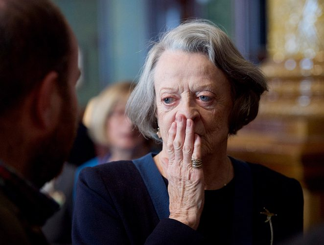 Dame Maggie Smith receives The Critics' Circle Award 2015 For Services to the Arts presented at a lunch National Liberal Club, London, Great Britain 31st March 2016