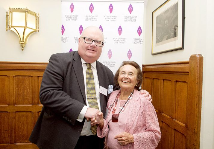 Sir Eric Pickles with Lily Ebert Holocaust survivor at a House of Commons reception